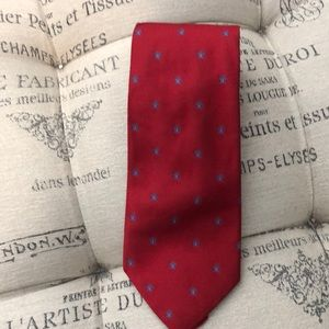 Brooks Brothers red silk tie with butterflies